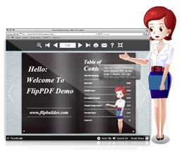 Flip catalog Assistant with Text