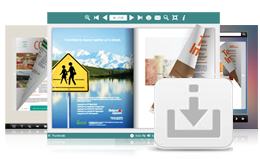 Flip book template and background images